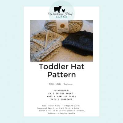 Toddler Hat Pattern PDF