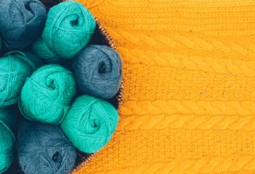 yarn in basket