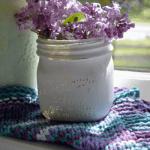 zig zag knitted Dishcloth Pattern