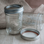 empty pint mason jars