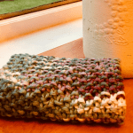 knitted seed stitch dishcloth