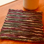 garter stitch knit dishcloth